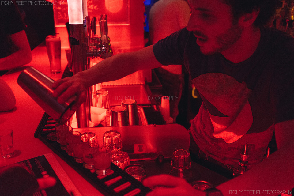 Very passionate French bartender cooking up some funky drinks!