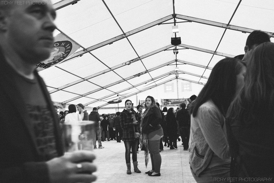 The beer hall at Cambridge Beer festival